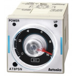 Autonics - AT8PSN - Time Delay Relay, 200 to 240VAC Coil Volts, 3A Contact Amp Rating (Resistive), Contact Form: DPDT