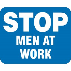 Accuform Signs - FRR363BU - Sign, Men At Work, Non-Reflective, 15 x 12