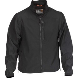 5.11 Tactical - 48167 - Valiant Softshell Jacket, 4XL Fits Chest Size 60, Black Color