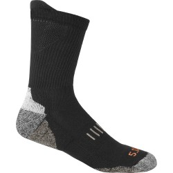 5.11 Tactical - 10014 - Unisex Crew Socks, Black, 1 PR