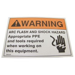 Badger Tag & Label - 111 - Warning Label, 5 x 3-1/2 in., PK5