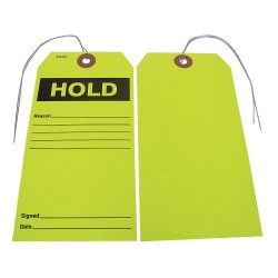 Badger Tag & Label - 114 - Paper Hold Reason___Signed___Date___ Hold Tag, 5-3/4 Height, 2-7/8 Width