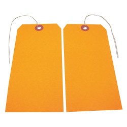 Badger Tag & Label - 118 - Blank Tag, Fluorescent Orange, Height: 5-3/4 x Width: 2-7/8, 25 PK