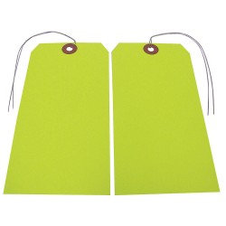 Badger Tag & Label - 119 - Blank Tag, Fluorescent Yellow, Height: 5-3/4 x Width: 2-7/8, 25 PK