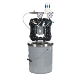 Binks - GEM2-W2D2070 - DBL Diaphragm Pump, Acetal, 5 gal.
