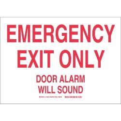 Brady - 12580 - Emergency Exit Sign, 9 x 12, Vinyl