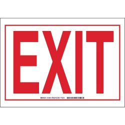 Brady - 103618 - Exit and Entrance, No Header, Plastic, 10 x 14, Bracket, Not Retroreflective