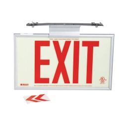 Brady - 115197 - Exit and Entrance, No Header, Plastic, 10-7/8 x 15-3/4, T-Bar, Not Retroreflective