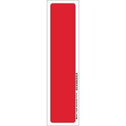 Brady - 103597 - Brady 14 X 3 1/2 X .008 Red On Glow .0079 B-324 Polyester Safety Sign FIRE EXTINGUISHER, ( Each )