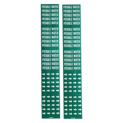 Brady - 106146 - Pipe Marker, 2-1/4H, 2-3/4W, PK3