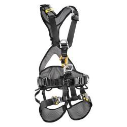 Petzl - C71CFA 2U - Full Body Harness with 310 lb. Weight Capacity, Black/Yellow, L/XL