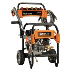Generac - 6564-0 - Industrial Duty (3300 psi and Greater) Gas Cart Pressure Washer, Cold Water Type, 3.6 gpm, 3800 psi