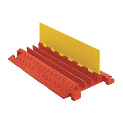 Checkers Industrial - CP3X225-Y/O - Hinged 3-Channel Cable Protector, Orange, Yellow, 36
