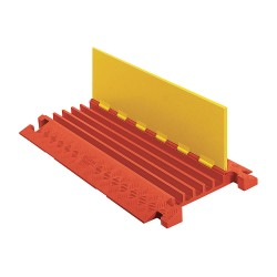 Checkers Industrial - CP5X125-Y/O - Linebacker - Cable/Hose Protector Heavy Duty 5-Channel - 3 Foot - Yellow
