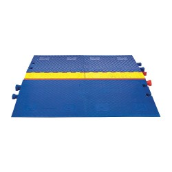 Checkers Industrial - CPRP-3-BLU - Drop Over 3-Channel ADA Ramps, Blue, 36