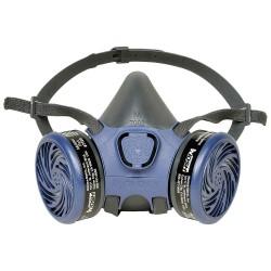 Moldex - 7102 - Moldex 7102 Medium Gray PVC Free Thermoplastic Elastomer Half Mask APR Dual Cartridge Pre-assembled Respirator With Adjustable Strap Suspension And Bayonet Connection (1 Each Per Bag, 12 Bags Per Case)