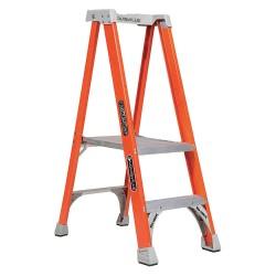 Louisville Ladder - FXP1702 - Fiberglass Platform Stepladder, 4 ft. 5 Ladder Height, 2 ft. Platform Height, 300 lb.