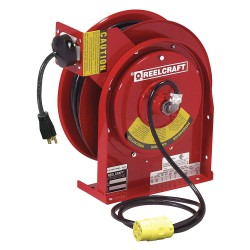 Reelcraft - L 4050 163 3-RP 1 - 120VAC Industrial Retractable Cord Reel; Number of Outlets: 1, Cord Included: Yes
