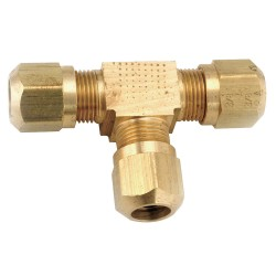 Anderson Metals - 1464X10 - Tee, Compression, Brass