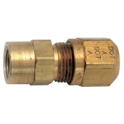 Anderson Metals - 1466X4X4 - FemaleConnector, Compression, Brass, 150psi