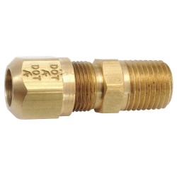 Anderson Metals - 00848-0202 - Connector, Male, Brass, 1/8In Pipe