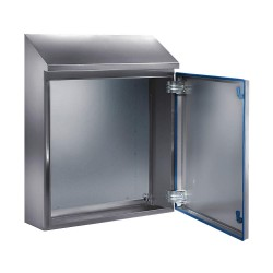 Rittal - 1308600 - 26.00 x 15.00 x 8.00 316L Stainless Steel Sloped Top Enclosure