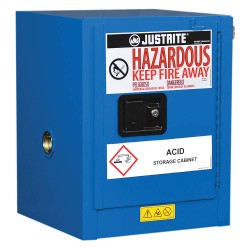 Justrite - 860428 - 17 x 17 x 22 Steel Corrosive Safety Cabinet, Blue