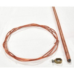 Justrite - 915505 - Hazmat Grounding Rod Kit, For Use With Securall Outdoor Drum Storage Buildings