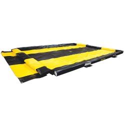 Justrite - 28576 - Justrite 10' X 11' X 4 Washdown QuickBerm Black PVC Coated Fabric Spill Berm, ( Each )