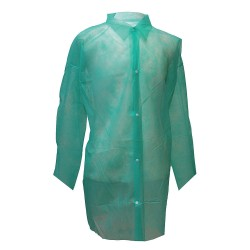 Action Chemical - A-GLC-L - Green Polypropylene Disposable Lab Coat, Size: L