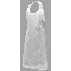 Action Chemical - A-DP-46-W - Bib Apron, White, 46 Length, 28 Width, Polyethylene Material, PK, 1000