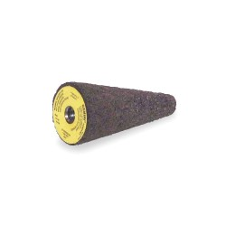 Saint Gobain - 66253349753 - 1-1/2 Square Tip Grinding Cone, 3 Thickness, Aluminum Oxide, 24 Grit