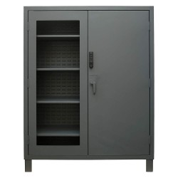 Durham - 3704CXC-BLP4S-95 - Storage Cabinet, Gray, 78 Overall Height, Assembled