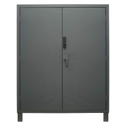 Durham - 3704CX-BLP4S-95 - Storage Cabinet, Gray, 78 Overall Height, Assembled