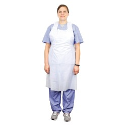 Tidi Products - 10418 - Bib Apron, White, 46 Length, 28 Width, Polyethylene Material, PK, 500