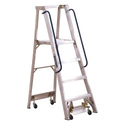 "Louisville Ladder - AP5004 - Aluminum Platform Stepladder, 5 ft. 8"" Ladder Height, 3 ft. 10"" Platform Height, 300 lb."