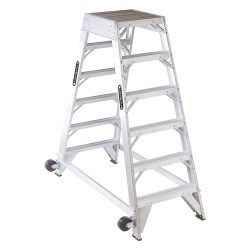 "Louisville Ladder - AM8006 - Aluminum Platform Stepladder, 5 ft. 8"" Platform Height, 20-1/2"" Platform Width"