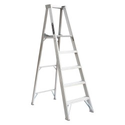 "Louisville Ladder - AP1005 - Aluminum Platform Stepladder, 4 ft. 9"" Platform Height, 15"" Platform Width, 300 lb. Load Capacity"