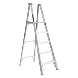 "Louisville Ladder - AP1005 - Aluminum Platform Stepladder, 6 ft. 7"" Ladder Height, 4 ft. 9"" Platform Height, 300 lb."