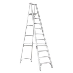 "Louisville Ladder - AP1010 - Aluminum Platform Stepladder, 11 ft. 4"" Ladder Height, 9 ft. 6"" Platform Height, 300 lb."