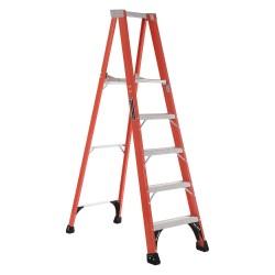 Louisville Ladder - FP1405HD - Fiberglass Multipurpose Ladder, 7-5/12 ft. Extended Ladder Height, 375 lb. Load Capacity