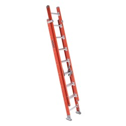 "Louisville Ladder - FE7216 - 16"" Ext Ladder D Rung Two Section Fiberglass"