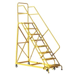 "Louisville Ladder - GSX2408 - 8-Step Rolling Ladder, 116"" Overall Height, 450 lb. Load Capacity"
