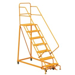 "Louisville Ladder - GSX2407 - 7-Step Rolling Ladder, 106"" Overall Height, 450 lb. Load Capacity"