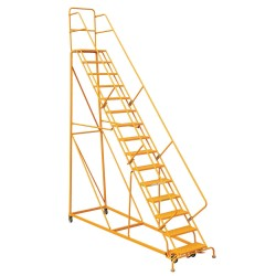 Louisville Ladder - GSX2415 - 15-Step Rolling Ladder, 186 Overall Height, 450 lb. Load Capacity