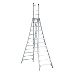 Louisville Ladder - AX1012 - 12 ft. 300 lb. Load Capacity Aluminum Trestle Estension Ladder