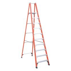 """Louisville Ladder - FP1410HD - Fiberglass Platform Stepladder, 9 ft. 6"""" Platform Height, 15"""" Platform Width, 375 lb. Load Capacity"""