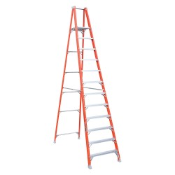 Louisville Ladder - FP1512 - Fiberglass Platform Stepladder, 13 ft. 3 Ladder Height, 11 ft. 5 Platform Height, 300 lb.