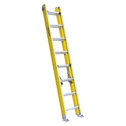 Louisville Ladder - FE4216HD - Extension Ladder, Fiberglass, IAA ANSI Type, 9 ft. Ladder Height