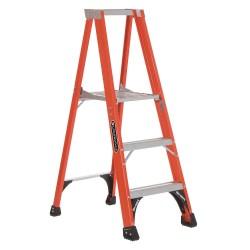 Louisville Ladder - FP1403HD - Fiberglass Platform Stepladder, 4 ft. 11 Ladder Height, 2 ft. 10 Platform Height, 375 lb.